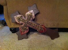 Extra Large Red and Gold Crackle Finish and by SignsBYDebbieHess, $50.00