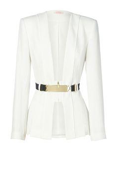 THE FORGIVING - soft tailored fitter jacket & detachable belt. jacket features hem slit detail.