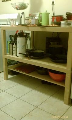 Temporary kitchen island idea