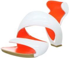 Julian Hakes Mojito Shoe Classic White / Fluorescent Orange - Womens £155
