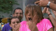 """'I hate to get my hair wet!' Hoda gets doused for 'ice bucket challenge"""""""