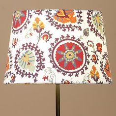 living rooms, fabric patterns, lampshades, lamp shade, interiors