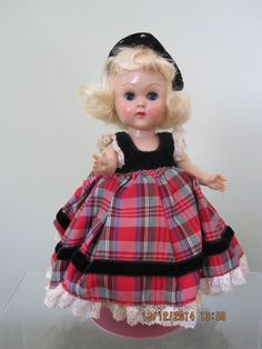 Ginny 1956 Formals #6060, Blond/Blue SLW, Headpiece, Satin Shoes, Excellent #DollswithClothingAccessories