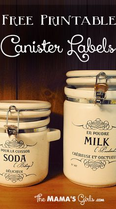 Cute FREE Printable Canister Labels