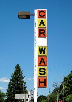 Car Wash sign.......Liberty, Indiana.