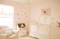 Vintage pink and white nursery. #vintage #nursery