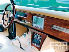 1963 International Scout Dashboard that's gone a little high tech