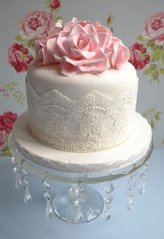 My Mum's 60th Birthday Cake by Little Paper Cakes, via Flickr Birthday Cake Mums, Rose Lace, Beauty Cake, 60Th Birthday Cake, Paper Cake, Anniversaries Cake, Lace Cake, Rose Cake, Birthday Cakes