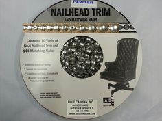 30 Feet Upholstery PEWTER Tackstrips Roll Nail Strip Nailhead Trim