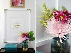LOVED seeing our Emily Ley #GraceNotPerfection art print on iHeart Organizing: Bathroom Makeover Week! The REVEAL!