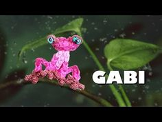 Rainbow Loom Animated Characters Series: GABI the Frog (Rio 2). Designed and loomed by PG's Loomacy. Click photo for YouTube tutorial. 04/12/14.