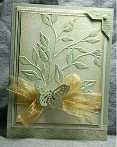 Cards made with the cuttlebug on pinterest | Cuttlebug leaf embossing folder | Cards to make