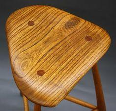 Sculpted stool seat by Wharton Esherick