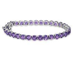 Amethyst Bracelet in Sterling Silver #BlueNile