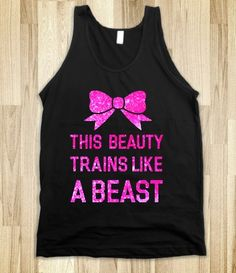 This Beauty Trains Like a Beast (pink)