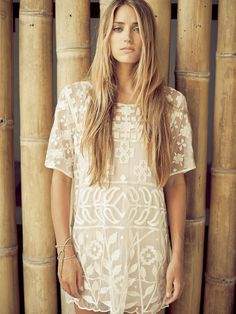 Lilya embroidered dress. love! (instagram: the_lane)