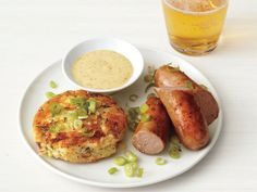 Bratwurst With Potato Cakes from FoodNetwork.com