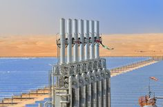 UAE launches the world's largest concentrated solar power plant (check out the camels in the distance!)