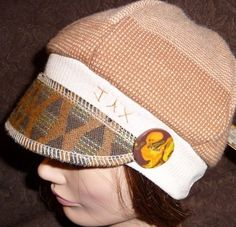 JAX hats, one of a kinds from ETSY and only $30.00 with a handmade button to boot . . . these are awesome
