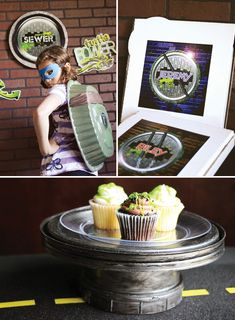 The Look For Less: Teenage Mutant Ninja Turtles Party cupcak, mutant ninja, cakes, turtl parti, cake stands, teenag mutant, cake plate, ninja turtle party, ninja turtles