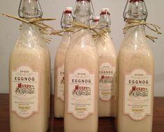 Homemade eggnog spiked with vanilla vodka and baileys Irish cream