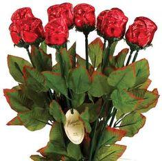 Madelaine brand Red Foiled Roses