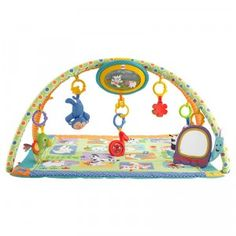The Sing-Along Musical Friends Gym is a musical, light-up play gym that grows with your baby from lay-and-play to tummy time and also on the go.