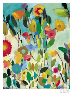 Turquoise Garden Giclee Print by Kim Parker at Art.com