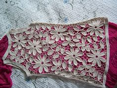 Outstanding Crochet:   Irish / Irlandes Crochê Crochet lace shirt