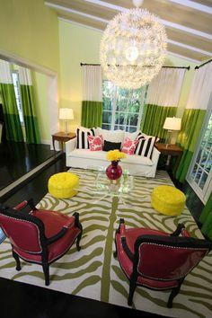 David Bromstad design, adore.  Please be my living room! #design #decor #paint