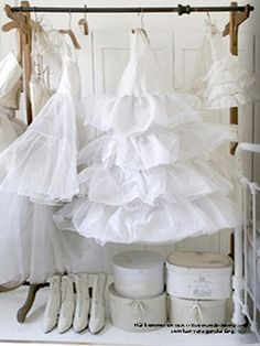 Vintage petticoats and shoes