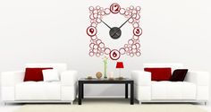 A funky design that combines bubbles and numbers is the base for the bubble clock wall decal. This product by Dezign With a Z includes a removable wall sticker, a black clock mechanism that is totally silent and 2 AA batteries. Starts at $75.