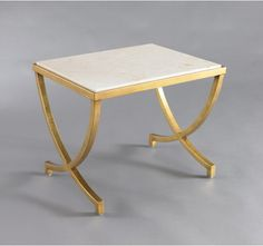 HAVILAND TABLE - ANTIQUE GOLD