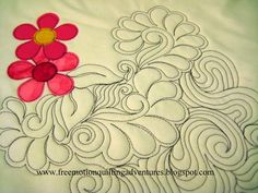 Feathered swirl flowers with Mctavishing
