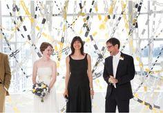 Paper chain backdrop! Love.