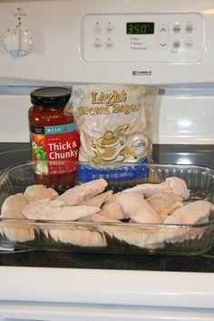 Easy Chicken Salsa Bake