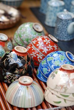 Japanese Pottery from #Kyoto, #Japan,