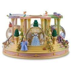 Disney Store Disney Princess For Seasons Musical Snowglobe Featuring Detachable Princesses Cinderella, Belle, Aurora (Sleeping Beauty) and Ariel Snow Globes