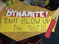 I did this for Test motivation! FCAT is around the corner. #motivation #test #education