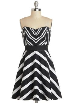 Chevron Strapless Dress