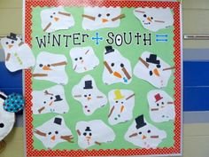 First Grade Blue Skies: Melted Snowman Bulletin Board & Freebie Pack