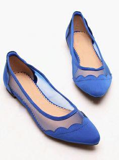 Cobalt blue flats