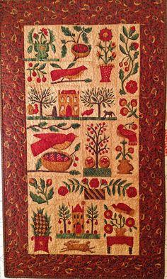 Shop sample  Wall Hanging  finished quilt  27 by myreddoordesigns, $40.00