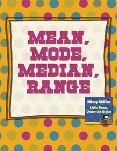 Math: Mean, Mode, Median, Range Packet $ #mean #mode #median #range #math #teacherspayteachers #tpt #mathactivity