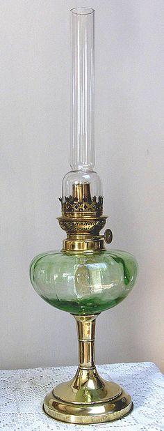 : Antique Oil Lamp