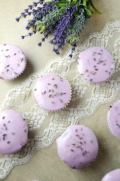 Flourless Chocolate & Lavender Cupcakes