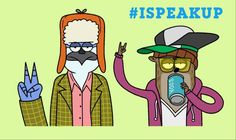 #RegularShow creator J.G. Quintel Speaks Up with original artwork in support of Stop Bullying: Speak Up! #ISpeakUp