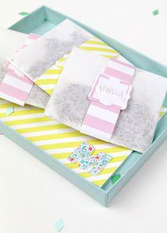 DIY mother's day bath sachets