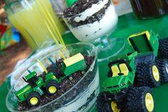 John Deere tractor party - dirt cake