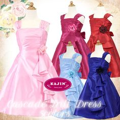 Girls Cascading Ruffle Party Dress    Now at $75 with Free International Shipping.     #girls, #party, #dress, #ruffle, #pink, #blue, #berry, #flower